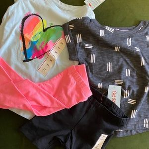 Set of 2T clothes!! All NWT💘4 pieces=many outfits